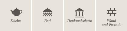 Anwendung: Bad, Küche, Denkmalschutz, Wand und Fassade